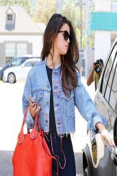 Selena Gomez Casual Style - at Starbucks in Studio City - April 2014