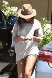 Selena Gomez Gets Leggy Again - Out in Woodland Hills - April 2014