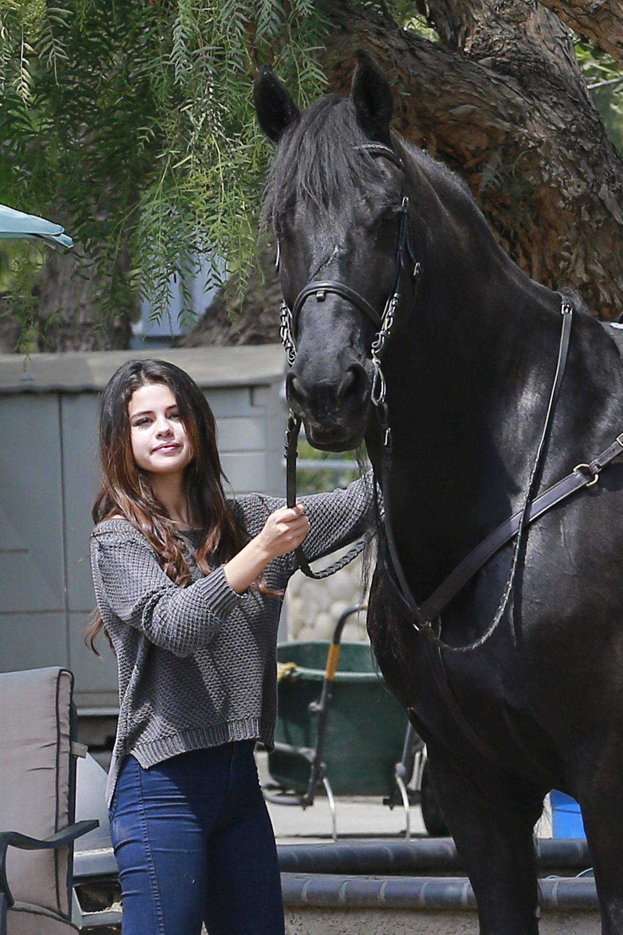 Selena Gomez Horseback Riding April 2014