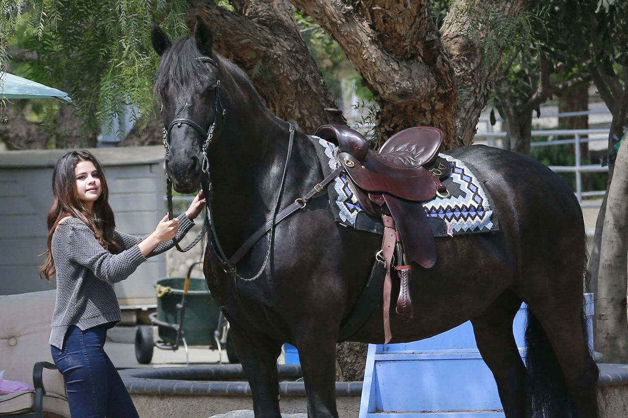 Selena Gomez Horseback Riding April 2014