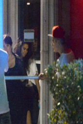 Selena Gomez Visits Justin Bieber at the Hit Factory Studio in Miami - April 2014