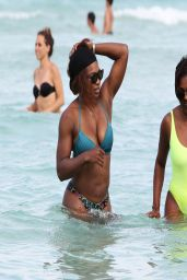 Serena Williams With a friend on Miami Beach - April 2014