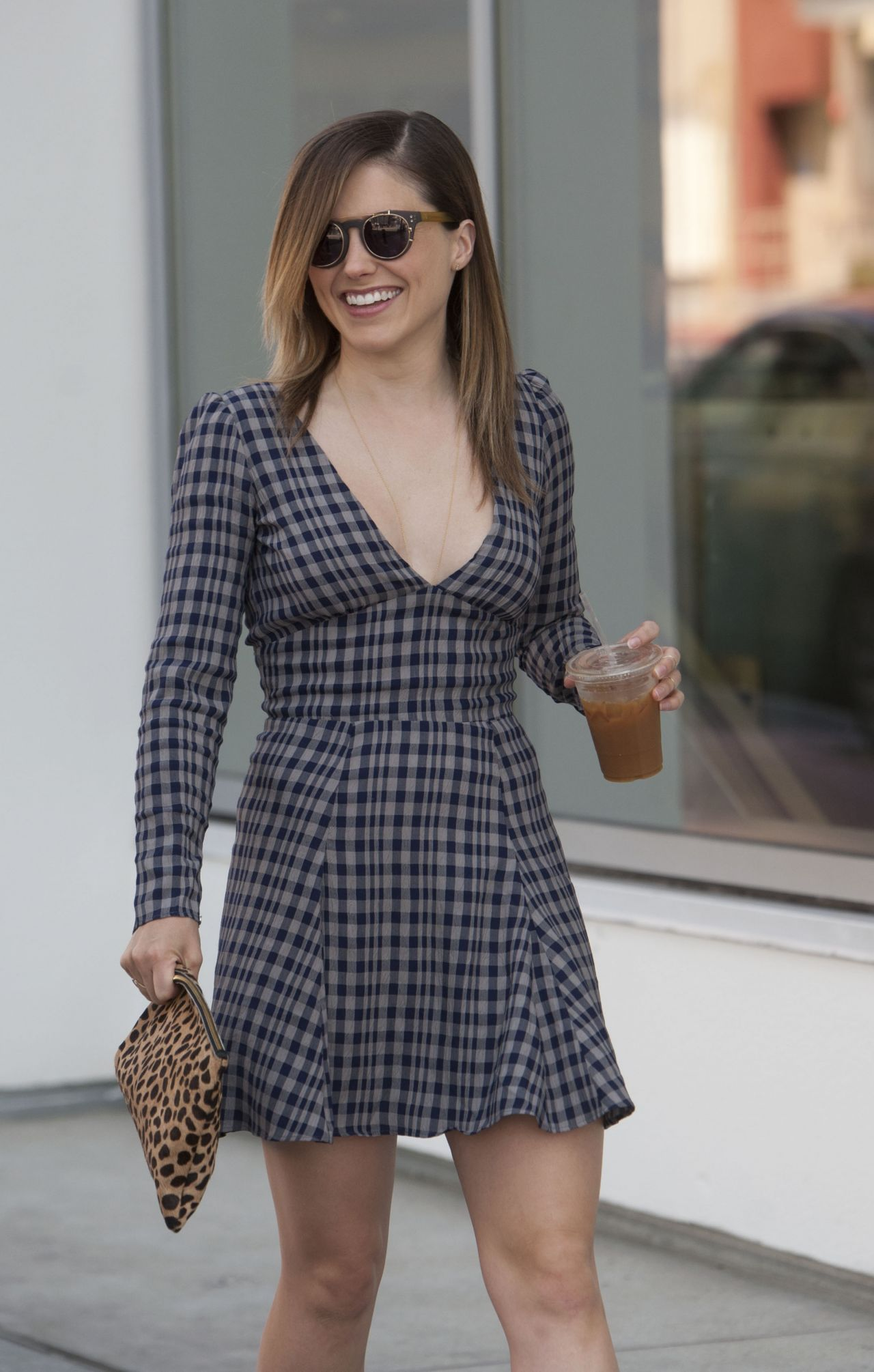 Sophia Bush in Mini Dress - Out in Los Angeles - April 2014