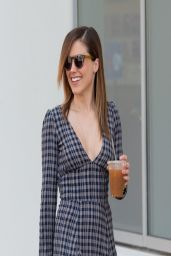 Sophia Bush in Mini Dress - Out in Los Angeles - April 2014