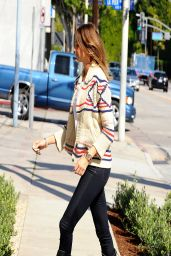 Stacy Keibler in Jeans - Out in Beverly Hills - April 2014
