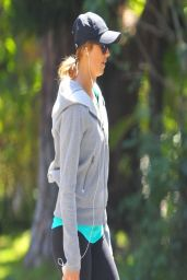 Stacy Keibler - Jogging in Los Angeles, April 2014