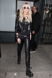 Taylor Momsen Night Out Style - Leaving Warwick Nightclub in Hollywood