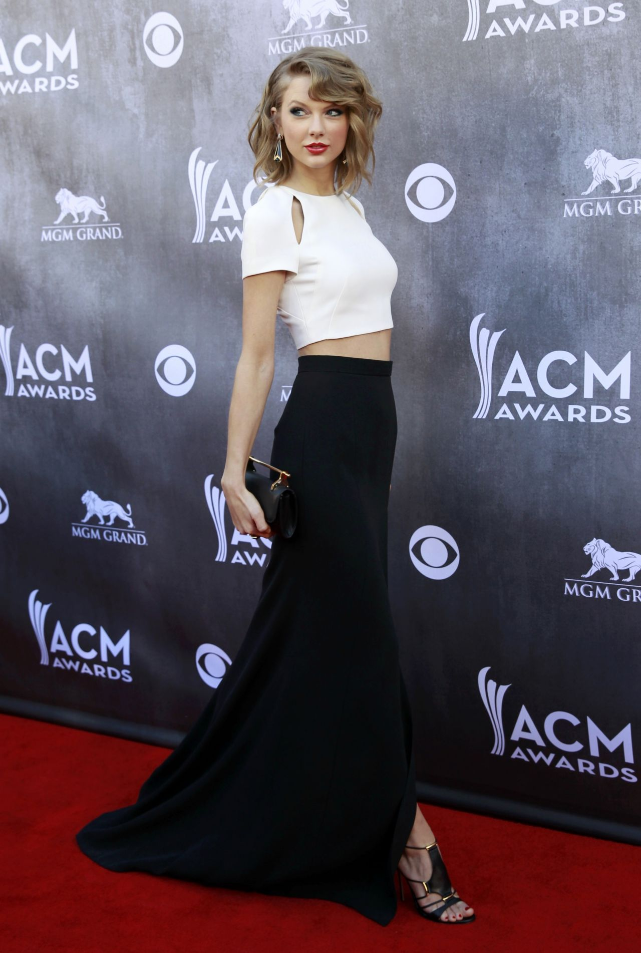 Taylor Swift in J Mendel - 2014 Academy Of Country Music Awards in Las Vegas