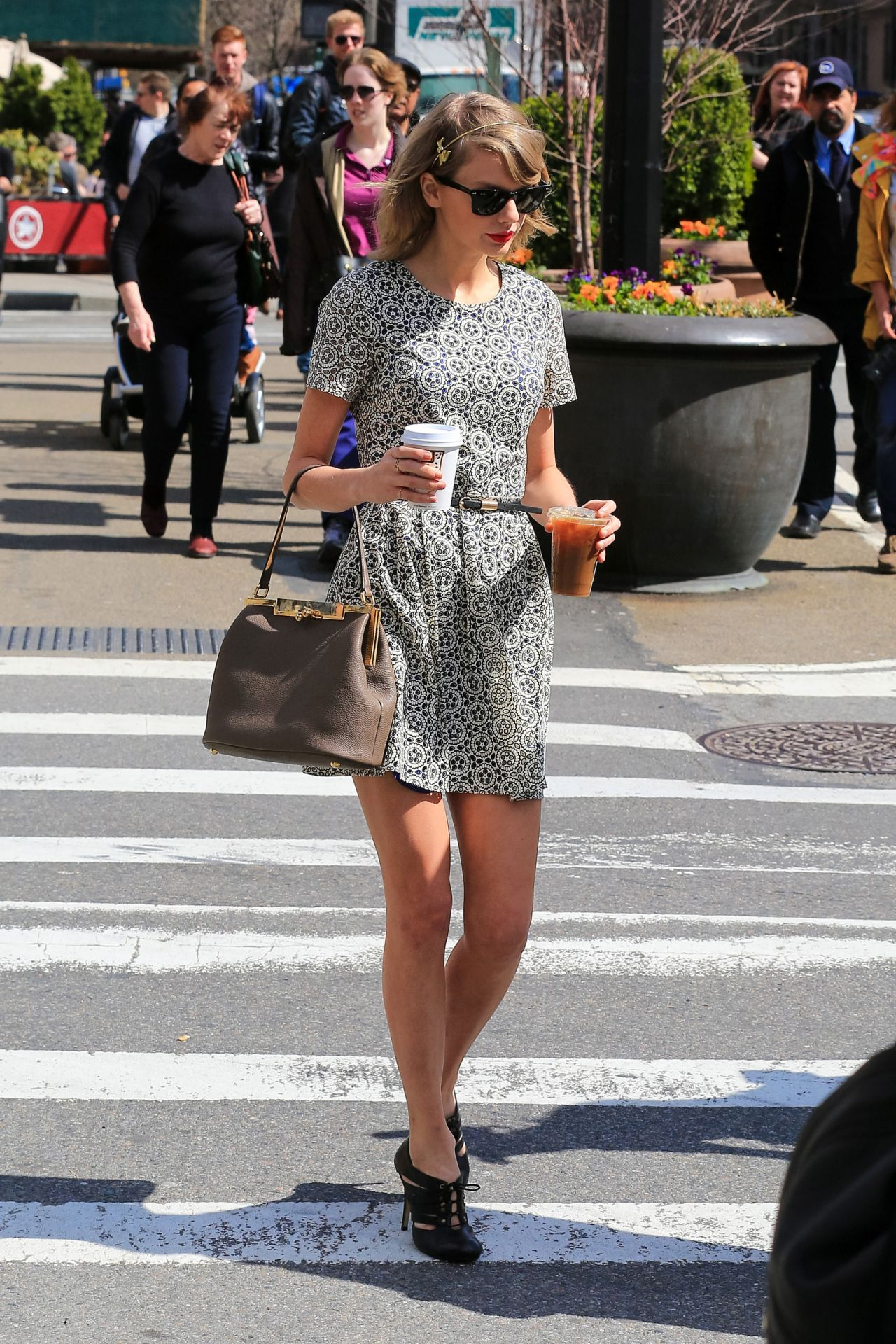 Taylor Swift In Mini Dress Out In New York City April 2014