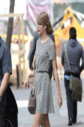 Taylor Swift in Mini Dress - Out in New York City - April 2014