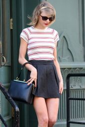 Taylor Swift in Mini Skirt - Out in NYC - April 2014