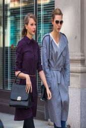 Taylor Swift & Karlie Kloss - Out in New York
