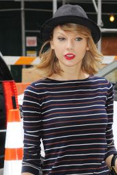 Taylor Swift Wearing Black Bowler Hat - Out in New York - April 2014