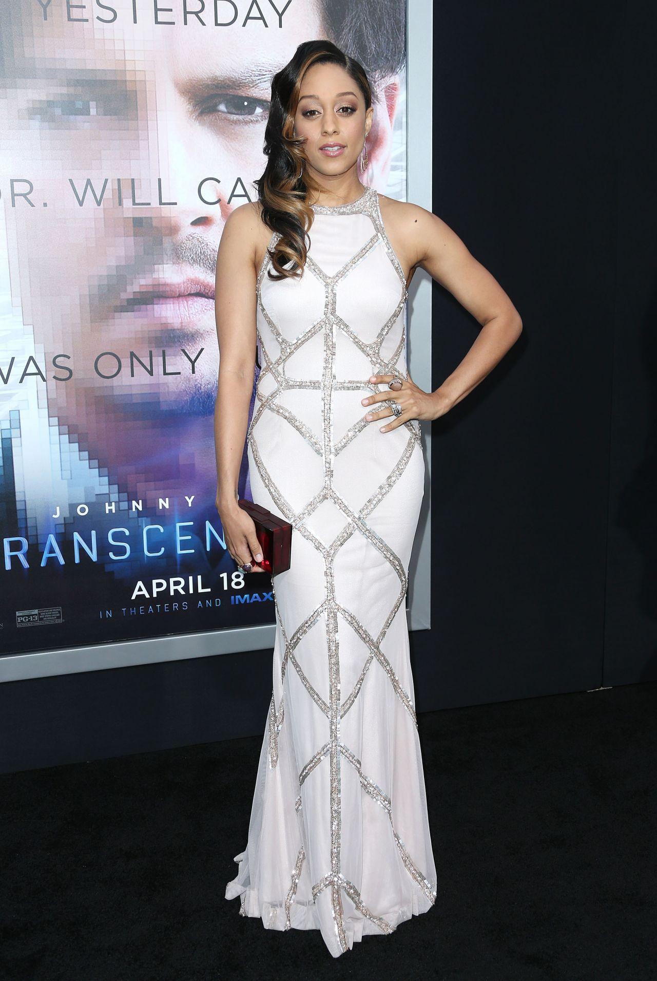 Tia Mowry Wearing Rachel Gilbertau Gown -