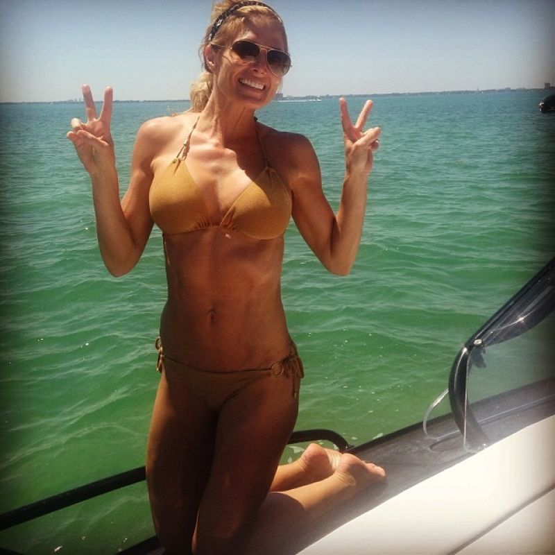 Torrie Wilson in a Bikini - Instagram, April 2014