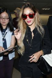 Vanessa Hudgens - LAX Airport - April 2014