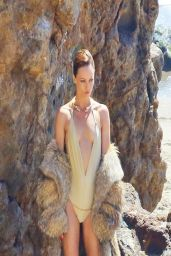 Vanessa Paradis - Sultry Swimwear Photoshoot - Malibu, April 2014