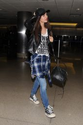 Victoria Justice - Arriving at LAX Airport - April 2014