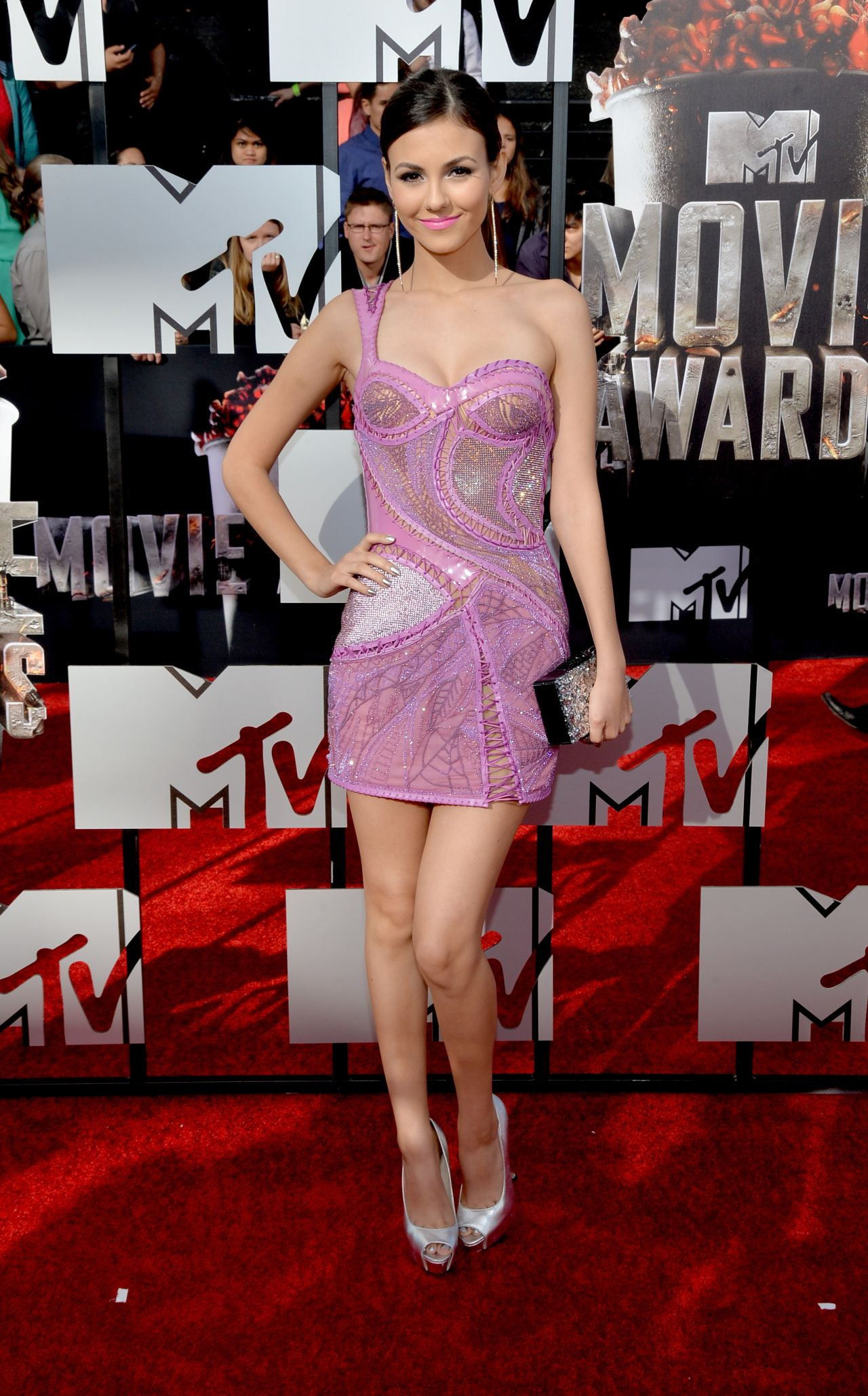 Victoria Justice In Atelier Versace Dress 2014 Mtv Movie