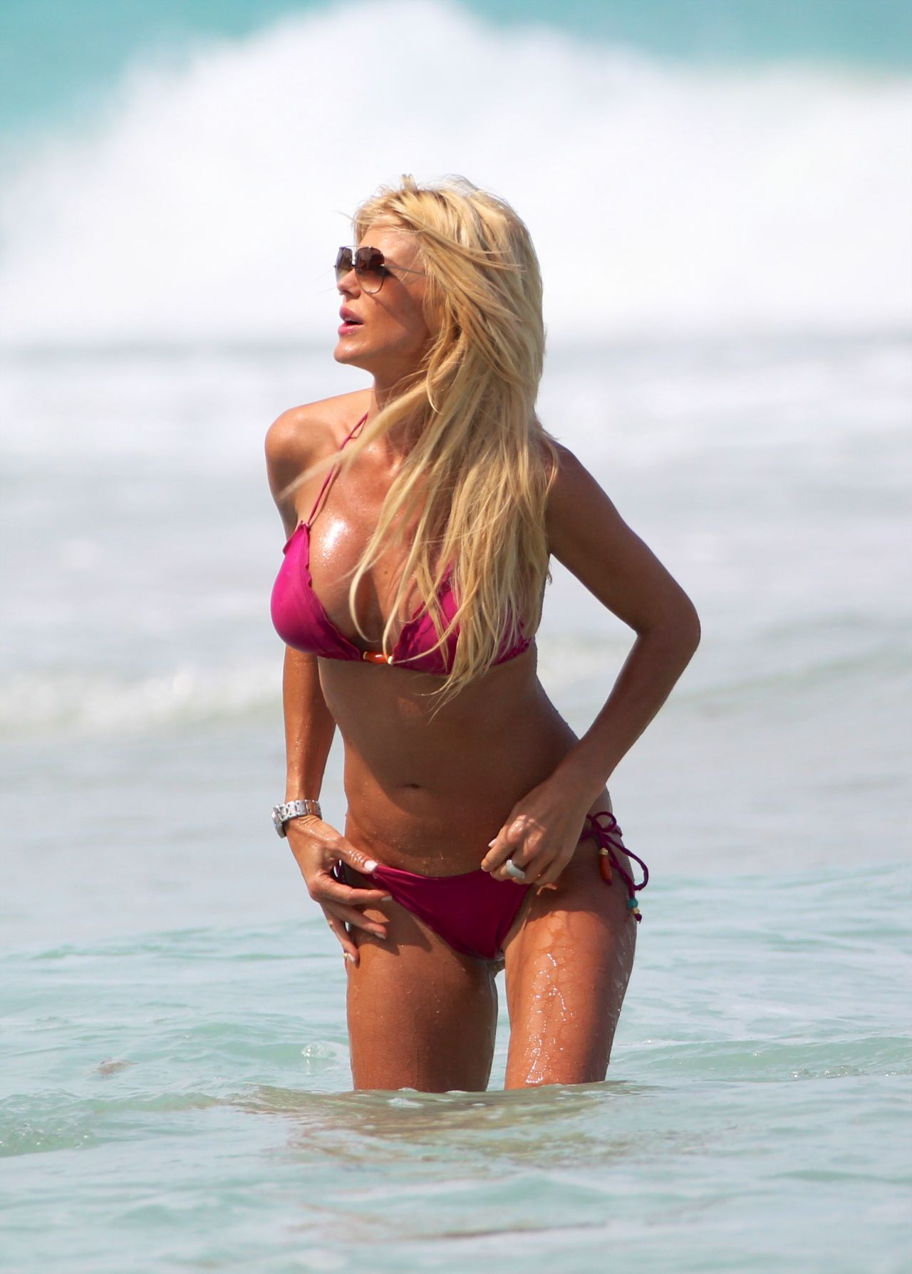 Victoria Silvstedt Wearing a Bikini in Miami - April 2014