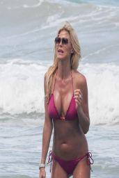 Victoria Silvstedt Wearing a Bikini in Miami - April 2014