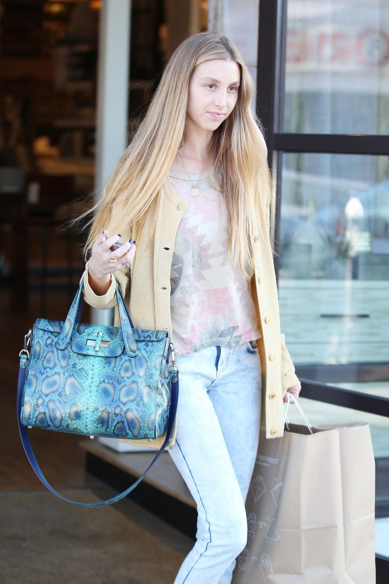 Whitney Port Shopping At West Helm Beverly Hills