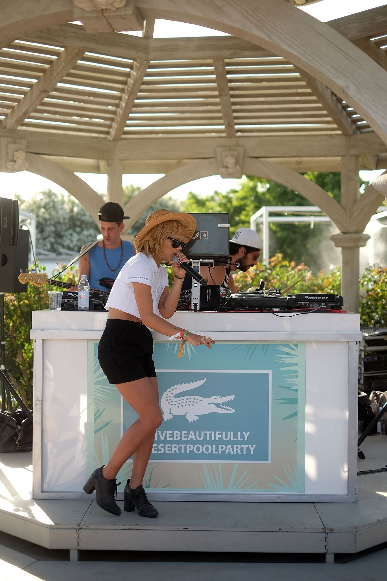 Zoe Kravitz - LACOSTE Beautiful Desert Pool Party - April 2014