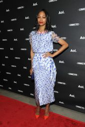 Zoe Saldana Wearing Roksanda Ilincic Dress - 2014 AOL NewFronts in New York City