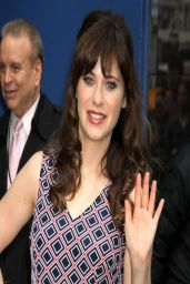 Zooey Deschanel - Visits Good Morning America in New York City - April 2014