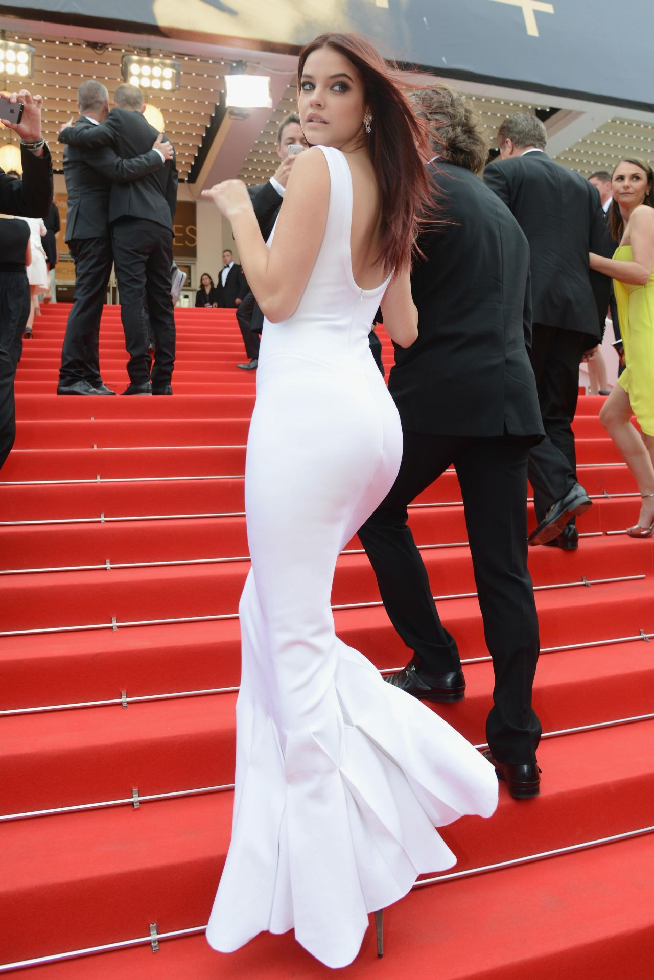 Barbara palvin 39 the search 39 premiere 2014 cannes film festival - Barbara palvin red carpet ...