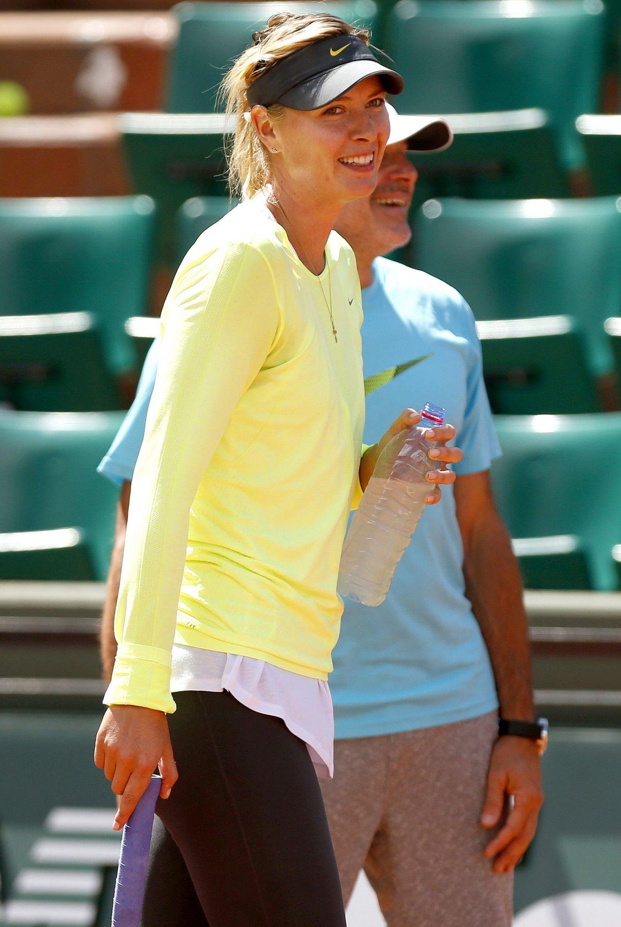 Maria Sharapova Training for 2014 French Open