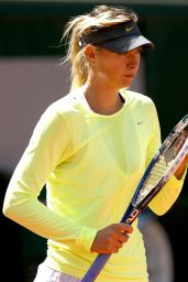 Maria Sharapova training for 2014 French Open