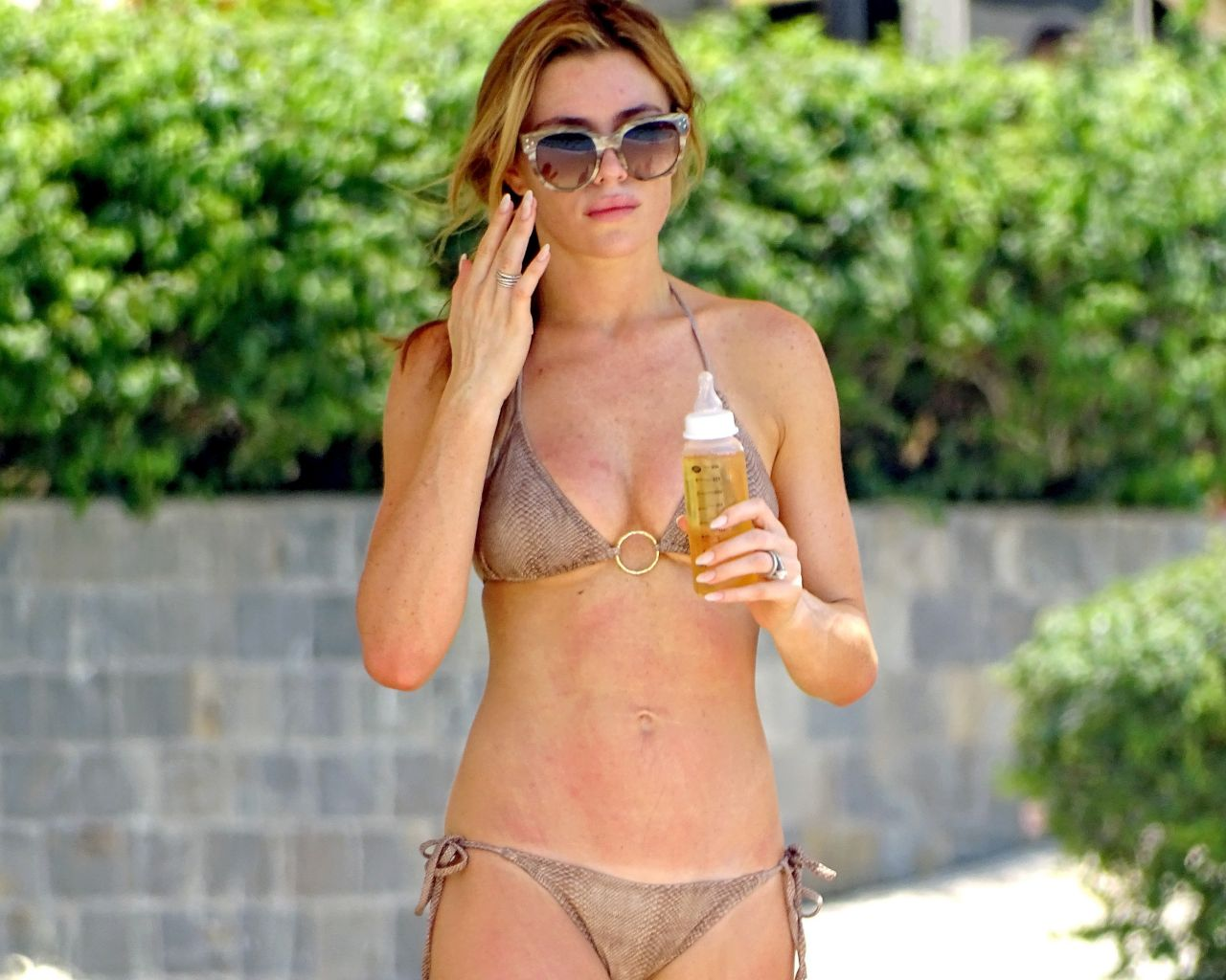 Abbey Clancy in a Bikini in Dubai - May 2014