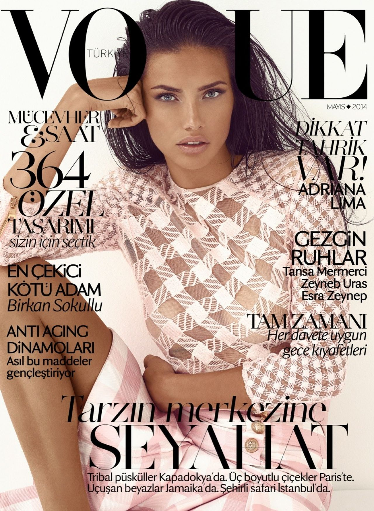 adriana lima vogue magazine turkey may 2014 issue