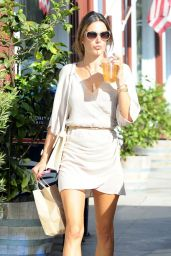Alessandra Ambrosio Casual Style - Out in Brentwood - May 2014