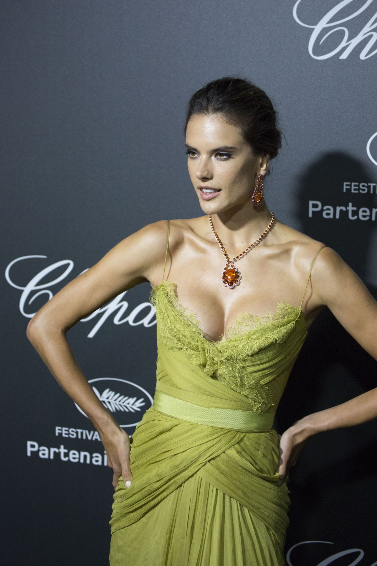 Alessandra Ambrosio In Elie Saab Couture Gown Chopard