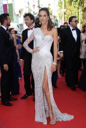 Alessandra Ambrosio Wearing Atelier Versace Dress -