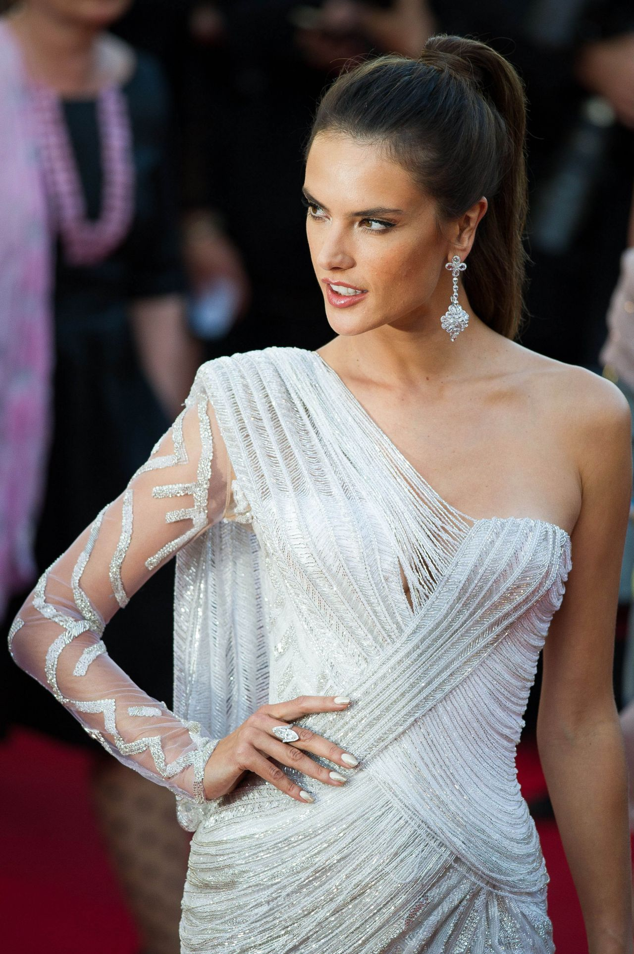 Alessandra Ambrosio Wearing Atelier Versace Dress Two