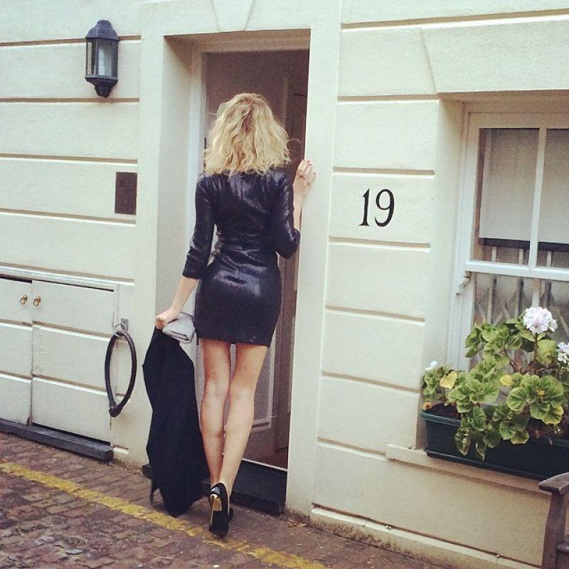 Alessia Marcuzzi in Mini Skirt - London, May 2014