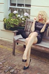 Alessia Marcuzzi in Mini Skirt - London, May 2014