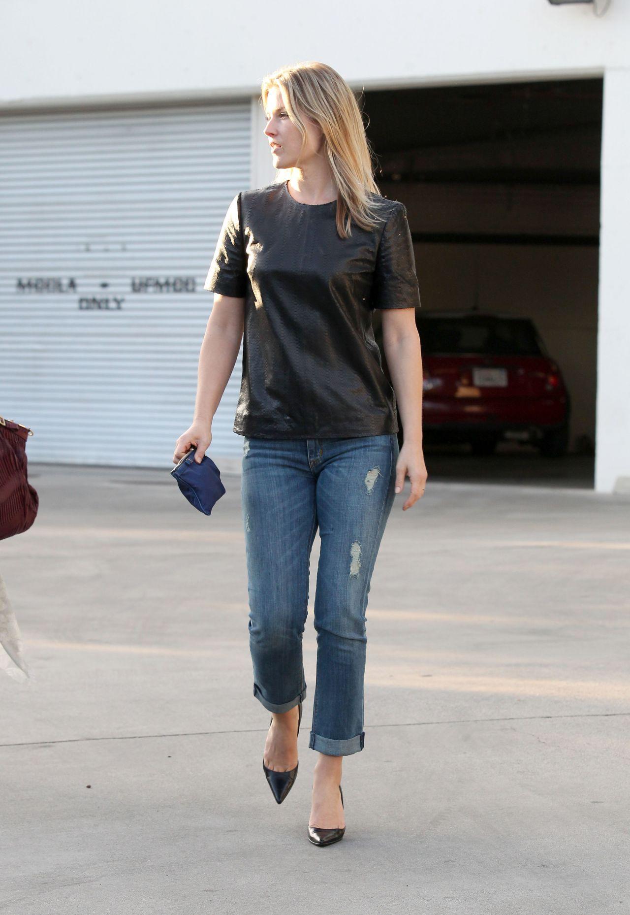 Ali Larter In Jeans Out In La May 2014