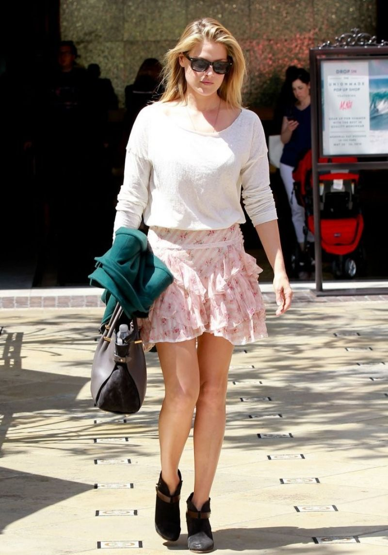Ali Larter in Mini Skirt - Out in Los Angeles - May 2014