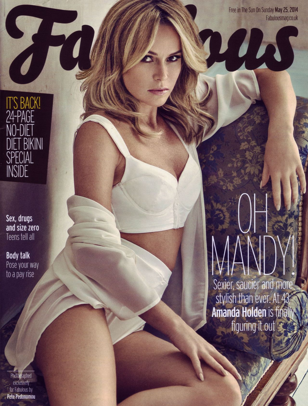 Amanda Holden - Fabulous Magazine May 25, 2014 Issue