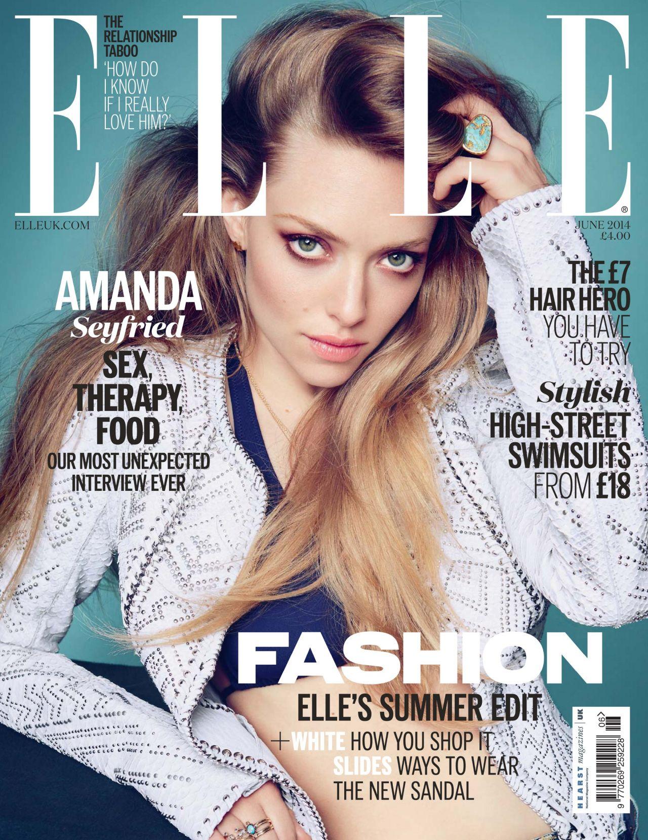 Amanda Seyfried - Elle Magazine (UK) June 2014 Cover