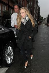 Amanda Seyfried - Leaving Claridges Hotel in London - May 2014