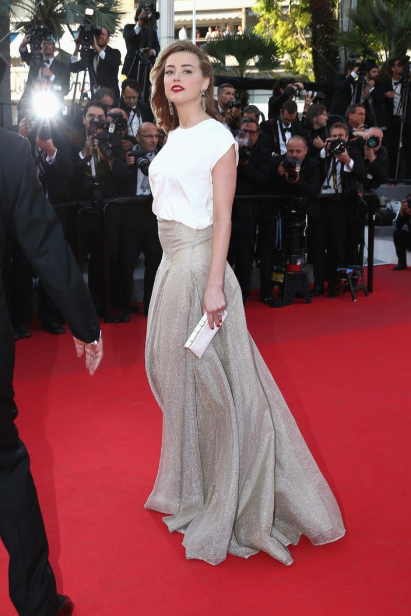 amber heard in vionnet 39 two days one night 39 premiere 2014 cannes film festival. Black Bedroom Furniture Sets. Home Design Ideas