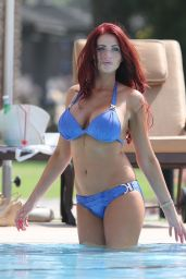 Amy Childs Bikini and Swimsuit Candids - By the Pool in UAE - May 2014