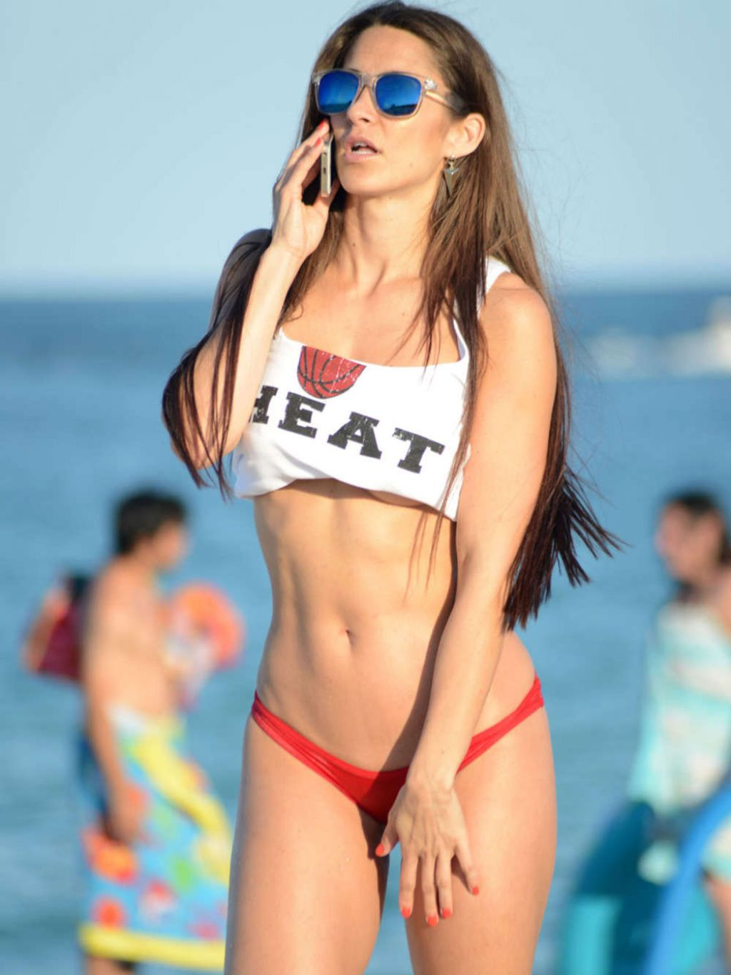 Anais Zanotti Bikini Candids on Miami Beach - May 2014