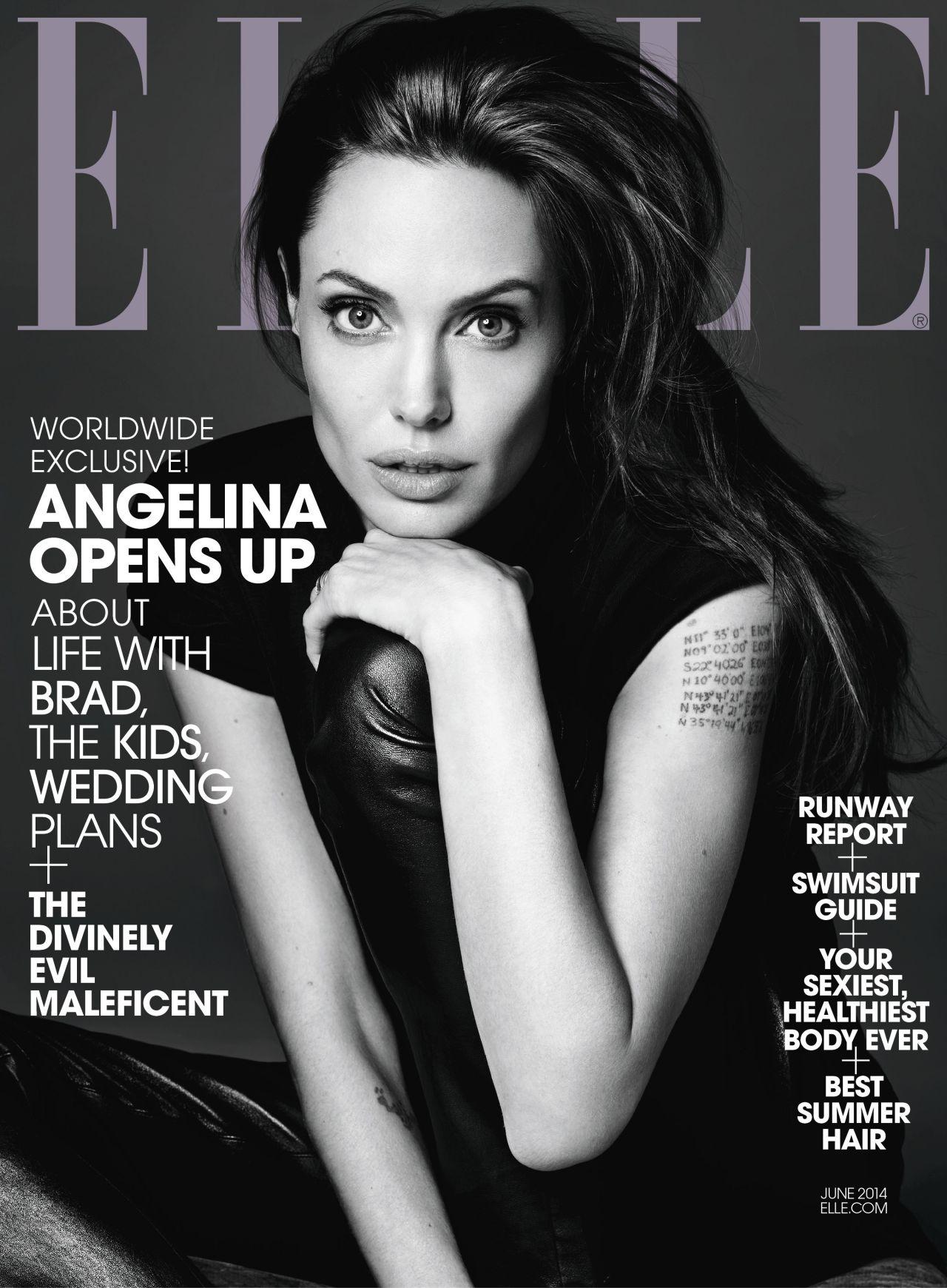 Angelina Jolie - Elle Magazine June 2014 Issue