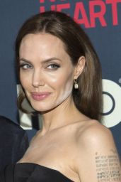 Angelina Jolie Wearing Saint Laurent Dress at